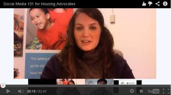 #YWHangout: Social Media 101 for Housing Advocates